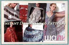 (4) Name: 'Crocheting :  Crochet Patterns Shawls 516