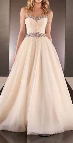 Tulle over Royal Organza wedding dress (I have no reason to pin this except I love it!!)