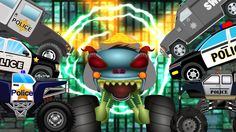 Watch and have fun. In this episode The haunted house monster truck is backed revamped and rejuvenated to start a fresh his descent into madness. #hauntedhouse #monstertruck #policecars #kidsvideos #babyvideos #childrens #babies #parents #kids #toddlers #fun