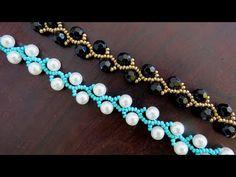Beaded Necklace Patterns, Beaded Bracelets, Bead Jewellery, Jewelry, Diy Tutorial, Chokers, Tutorials, Beads, Youtube