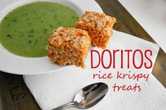 Doritos Rice Krispy Treats - I can see why this might work, but it feels wrong on so many levels - not to say I wouldn't try a little bit just because ;)