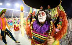 Maquiagem do 'Dia dos Mortos' mostra uma das festas populares ao redor do mundo, tema da escola