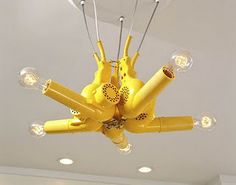 Hairdryer chandelier