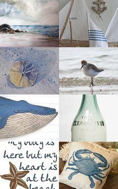 Lazy Dreamy Summer by Marina Hoffstrom Beach Cottage Style, Beach Cottage Decor, Coastal Cottage, Coastal Living, Seaside Decor, Coastal Decor, Collages, Les Hamptons, Deco Marine