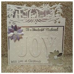 Joy at Christmas (Eclipse) I Card, Joy, Frame, Projects, Christmas, Gifts, Decor, Picture Frame, Log Projects