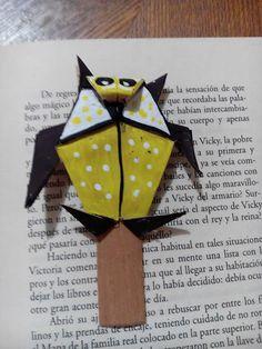 Marca páginas de buho en origami