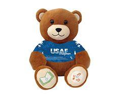 """United States Air Force Daughter Bluetooth music-playing teddy bear - """"My Dad..."""" VictoryTeddyBear http://www.amazon.com/dp/B00SCAL6OY/ref=cm_sw_r_pi_dp_w3X8vb18C0M3J"""