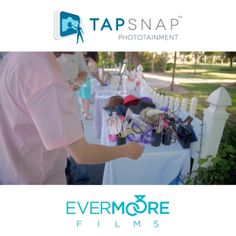 Choose a prop and hop right in - Tap Snap Phototainment! | www.EvermooreFilms.com
