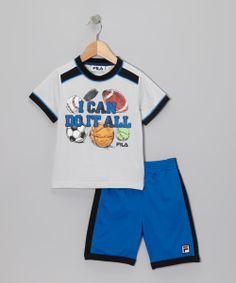 Fila_Blue 'I Can Do It All' Tee & Shorts - Toddler & Boys http://www.zulily.com/invite/apopov038
