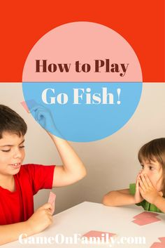Remember the rules for Go Fish? Let www.GameOnFamily.com re-teach you how to play go fish. Such a fun card game for the family and kids!