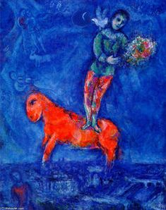 Enfant avec une colombe - (Marc Chagall)
