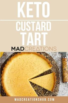 The most incredible keto custard tart that the whole family will love you for! Simple ingredients and just 1g net carbs per serve! #ketosweets #ketodesserts #ketopie #ketocustard #ketoeggcustard