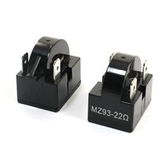 3-Terminal PTC Starter Relay 22 Ohm for Refrigerator MZ93 2Pcs, Model: , Hardware Store. Product Name : Refrigerator PTC Starter Relay;Model : MZ93. Resistance : 22 Ohm;Pin Number : 3. Total Size : 32 x 22x 28mm / 1.3x 0.87x 1.1(L*W*H);Material : Plastic. Color : Black;Weight : 31g. Package : 2 xRefrigerator PTC Starter Relay.