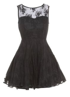 Black Little Black Dress - Black Lace Sleeveless Dress with | UsTrendy
