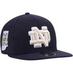 NCAA Notre Dame Fighting Irish State Clip Black Snapback Adjustable Hat By New Era