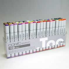 Kit com 72 cores pre-selecionadas do modelo Copic Sketch