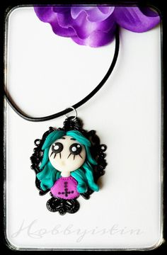 Fimo Doll Necklace