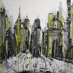 Art2Arts Artist: Irina Rumyantseva, Neo Metropolis - £490.00