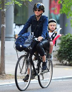 Naomi Watts and her son Kai hit the road in NYC via bike