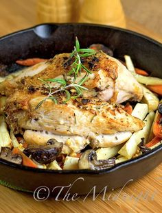 The Midnight Baker: Roasted Rosemary Chicken and Vegetables
