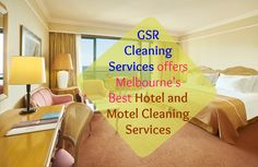Rely on GSR Cleaning Services for trained and experienced hotel cleaners in Melbourne. Know more at : www.gsrcleaning.com.au Hotel Cleaning, Cleaning Services, Melbourne, Bean Bag Chair, Home Decor, Housekeeping, Maid Services, Decoration Home, Room Decor