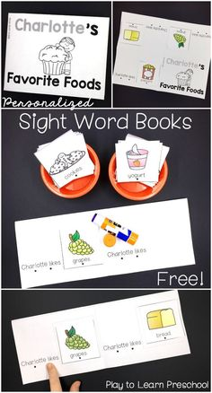 Try this FREE SAMPLE of our EDITABLE NAME SIGHT WORD BOOKS. Give your students the opportunity to practice their names and their sight words, in a cute foldable book that is personalized just for them! | by Play to Learn Preschool