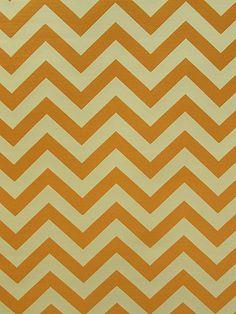 KRISTEN ORANGE #chevrons #orange-rust #woven-fabrics