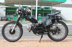 Chopper/Bobber Postie Bike with spring seat http://www.motorbikeporn.com