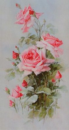 PRINT FREE SHIP Pastel Pink Victorian Roses by VictorianRosePrints, $10.95: