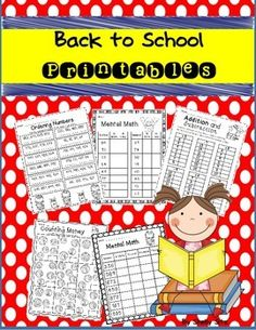 Start your school year with these Back to School Math Printables.  This packet includes: Mental Math Addition and Subtraction Word Problems  Ordering Numbers Counting Money Math Facts to 12