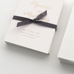 Gold foil wedding invitation