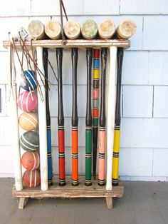 Vintage croquet set set for six lawn and outdoor by ThatRetroGirl