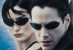 Trinity & Neo in The Matrix