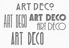 Graphic Identity: 5 Free Art Deco Fonts - useful for invites, place cards, name tags, etc!