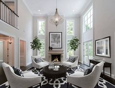 Elegant Luxury living room decor with armchairs, fireplace room decor, elegant white armchairs 7 tips for laying out a narrow living room Living Room Decor Elegant, Small Living Room Design, Formal Living Rooms, Living Room Grey, Living Room Lighting, Interior Design Living Room, Living Room Furniture, Living Room Designs, Tiny Living