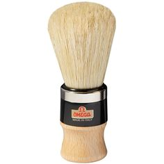Omega 20102 Boar Bristle Shaving Brush, Wood Handle with Metal Ring