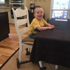 Little kids sit like big kids with KABOOST! His big smile makes us smile! #toddlerlife #kaboost #toddlerbooster #chairbooster  http://www.kaboost.com