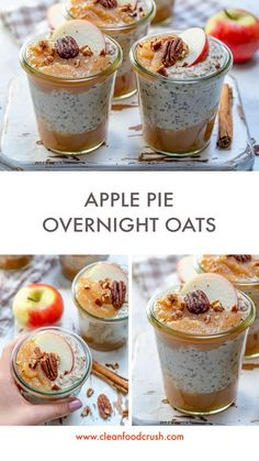 Apple Pie Overnight Oats are Like a Hug in a Jar (Clean Eating Meal Prep!) - Clean Food Crush Apple Pie Overnight Oats are Like a Hug in a Jar (Clean Eating Meal Prep! Clean Eating Breakfast, Breakfast For Kids, Breakfast Recipes, Breakfast Cooking, Breakfast Ideas, Tater Tots, Clean Eating Recipes, Healthy Recipes, Eating Healthy