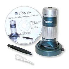 Carson MM-740 ZPIX 200 USB Digital Microscope w/ 26X130X Optical Zoom
