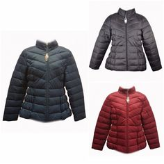 NEW BHS QUILTED PUFFER COAT JACKET 8 to 18 RRP £40 Red Teal Green Black
