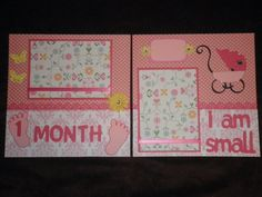Paper Crafts by Candace: Baby Girl scrapbook - pages 1, 2 and 3