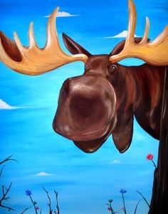 Moose are some of the cutest animals! Cute body on long, skinny legs, that NOSE, huge nostrils, awwww :) Their name is even fun to say: Moose. Just awesome. Moose Decor, Moose Art, Bull Moose, Moose Lodge, Moose Hunting, Pheasant Hunting, Turkey Hunting, Archery Hunting, Moose Pictures