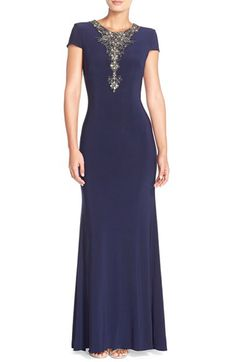 JS Boutique JS Boutique Embellished Jersey Gown available at #Nordstrom