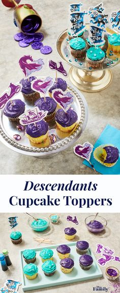 Descendants 2 is finally here and we're all about to be treated to a battle of epic proportions. Mal and newcomer Uma (daughter of The Little Mermaid's Ursula, yikes!) are about to face off over reign of the Isle of the Lost. Treat your family and friends to an awesome viewing party of the movie with these easy DIY Mal vs. Uma Cupcake Toppers! Click for more Descendants printables, and inspiration for your next Disney party.