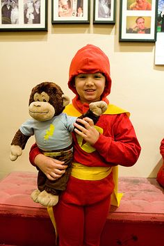 Grace in her home made WordGirl costume.  Incredible.