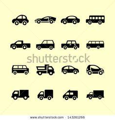 Auto icon collection by Maksym Sokolov, via Shutterstock