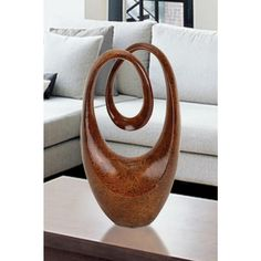 20 in. Abstract Decorative Sculpture, Brown
