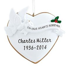 Shop Personal Creations Personalized in Our Hearts Forever Ornament 7646321, read customer reviews and more at HSN.com.