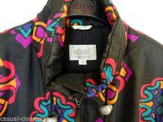 Vintage-SKI-SUIT-ETIREL-Size-40-UK-Large-BLack-MINT-Top-QUALITY-Snow-Suit-MENS