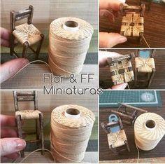 "127 Likes, 20 Comments - Flor (@florffminiaturas) on Instagram: ""Silla alta #miniatura #mini #miniature #miniatures #casademuñecas #rustic #rusty #dollhouse…"""